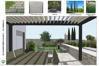Esquisse Jardin Contemporain Paysagiste Sophie Durin Agence